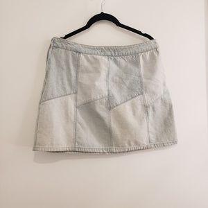 5 for 30!!! Forever 21 Denim Patchwork Mini Skirt